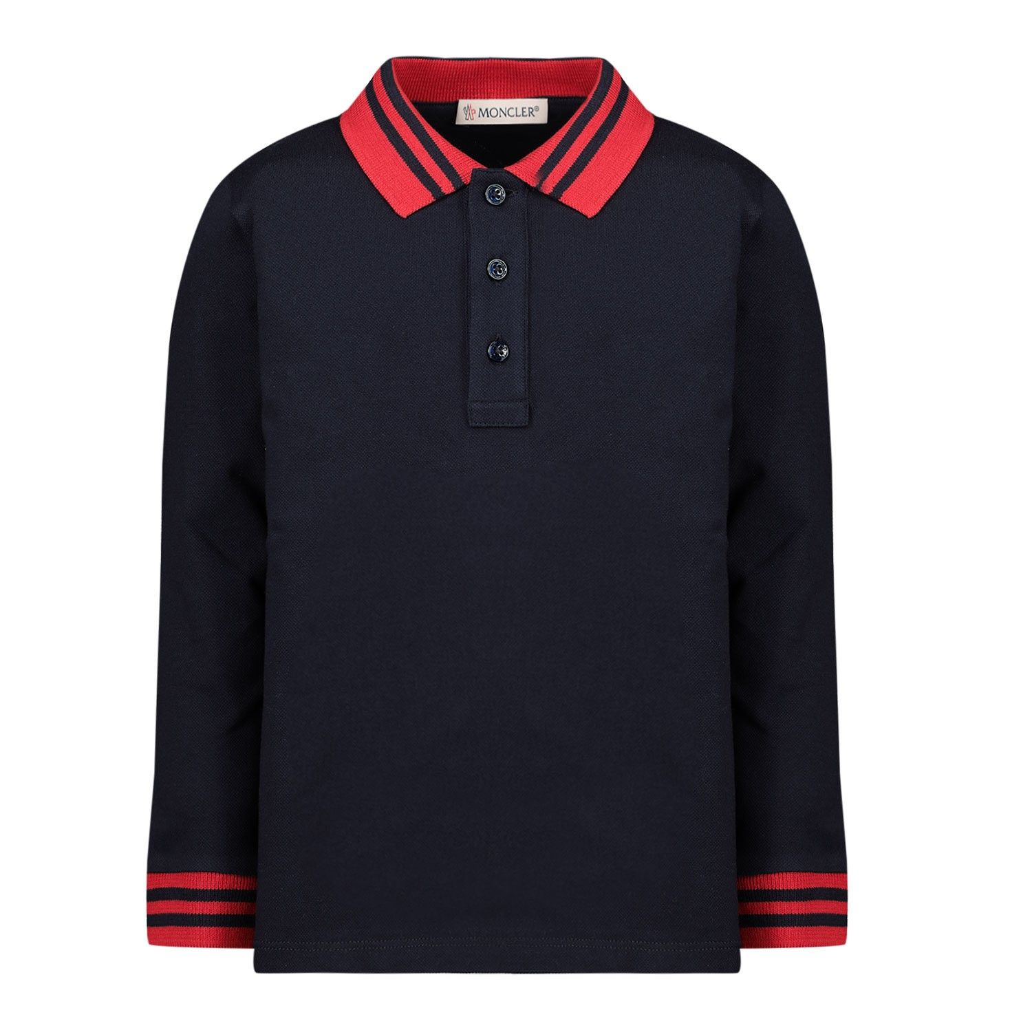 Picture of Moncler 8B70320 baby poloshirt navy