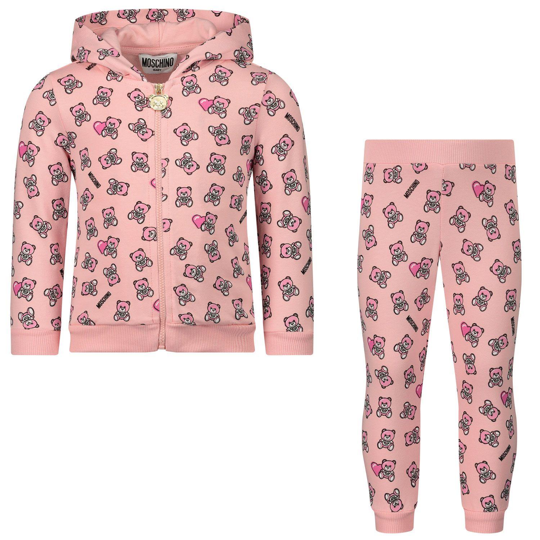 Afbeelding van Moschino M5K00G baby joggingpak licht roze