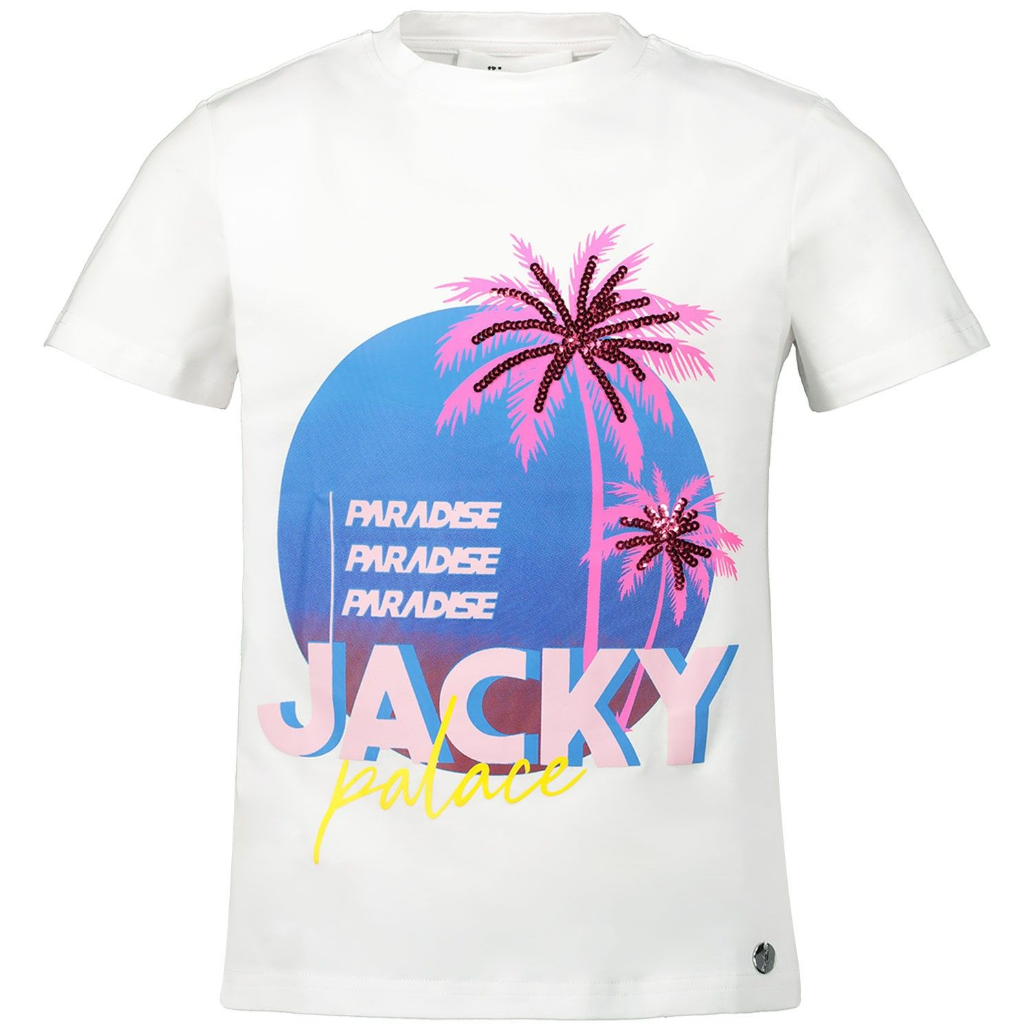 Picture of Jacky Girls JGSS20074 kids t-shirt white