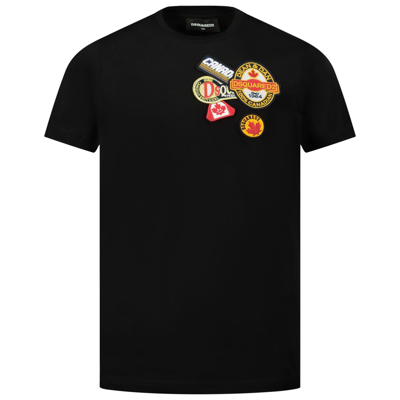 Afbeelding van Dsquared2 DQ048Q kinder t-shirt zwart