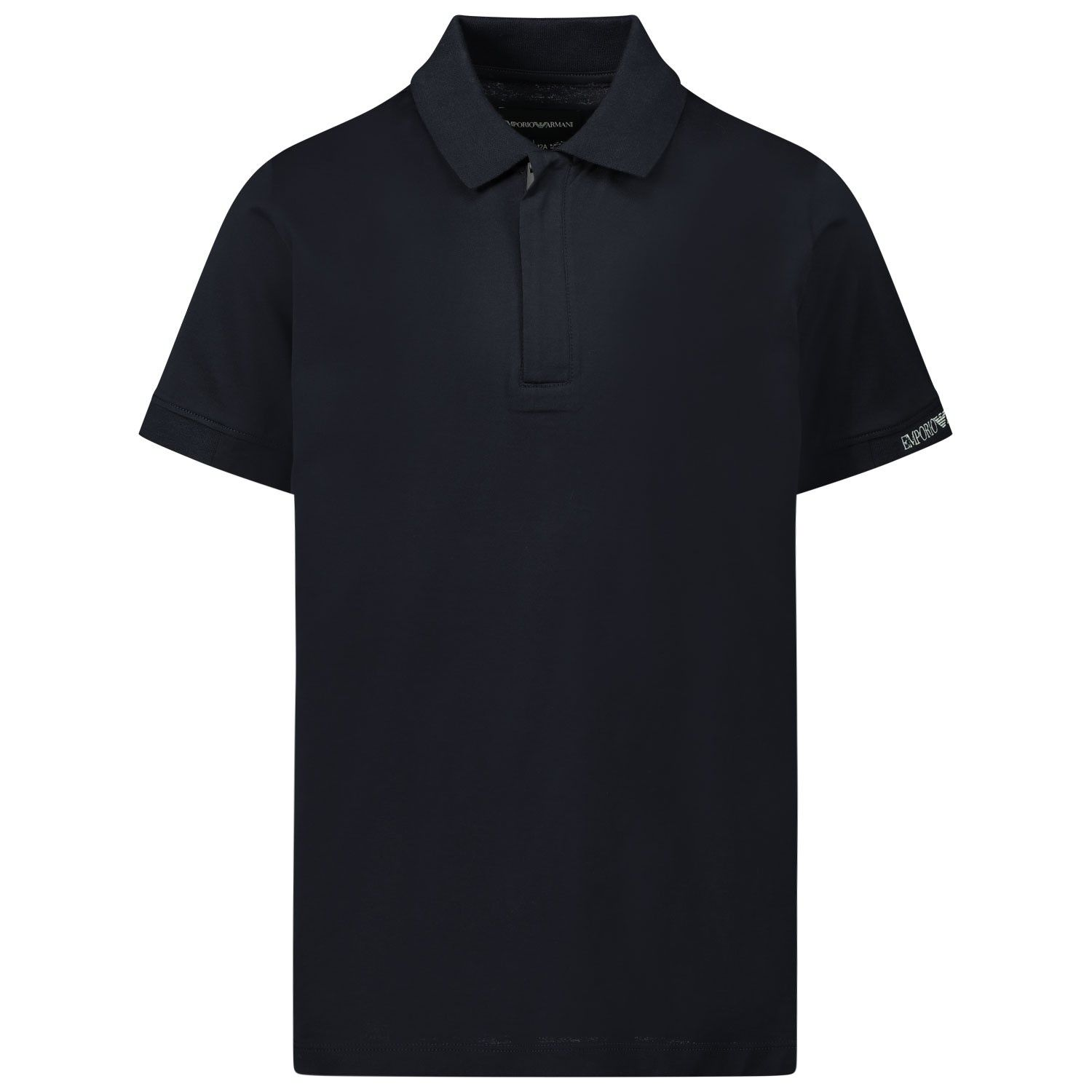 Picture of Armani 3H4F61 kids polo shirt navy