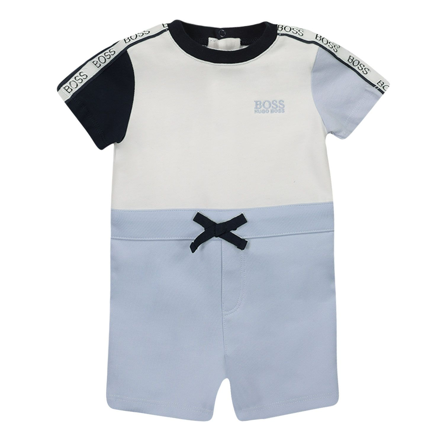 Picture of Boss J94277 baby playsuit white