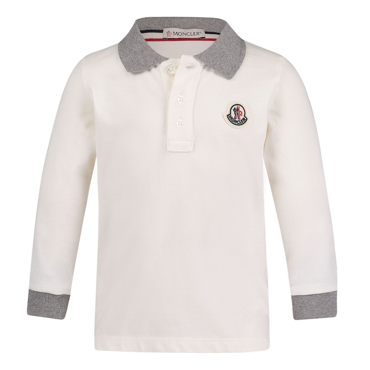 Picture of Moncler 8B70520 baby poloshirt off white