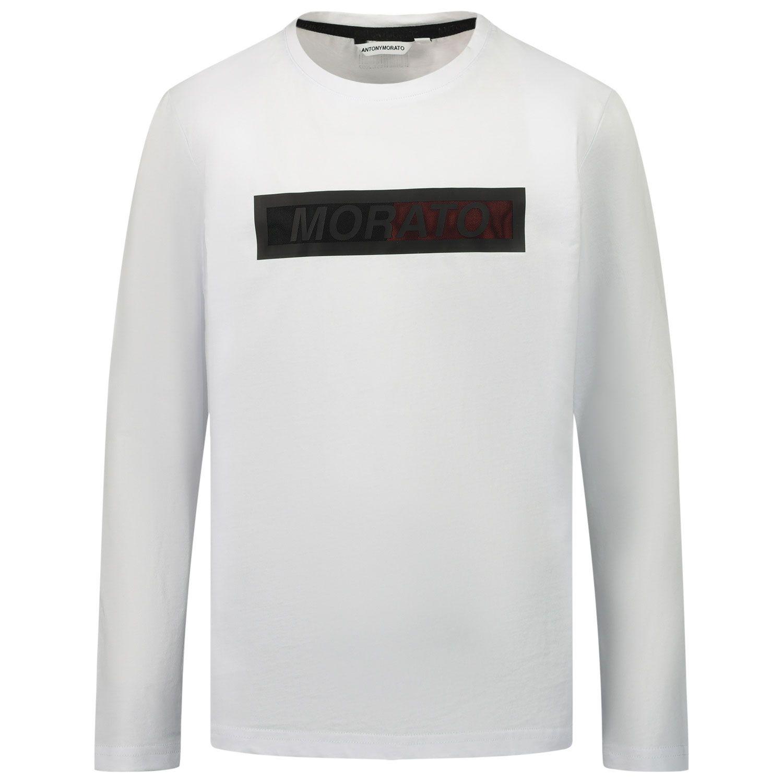 Picture of Antony Morato MKKL00208 kids t-shirt white