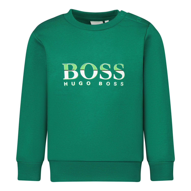 Afbeelding van Boss J05892 baby trui groen