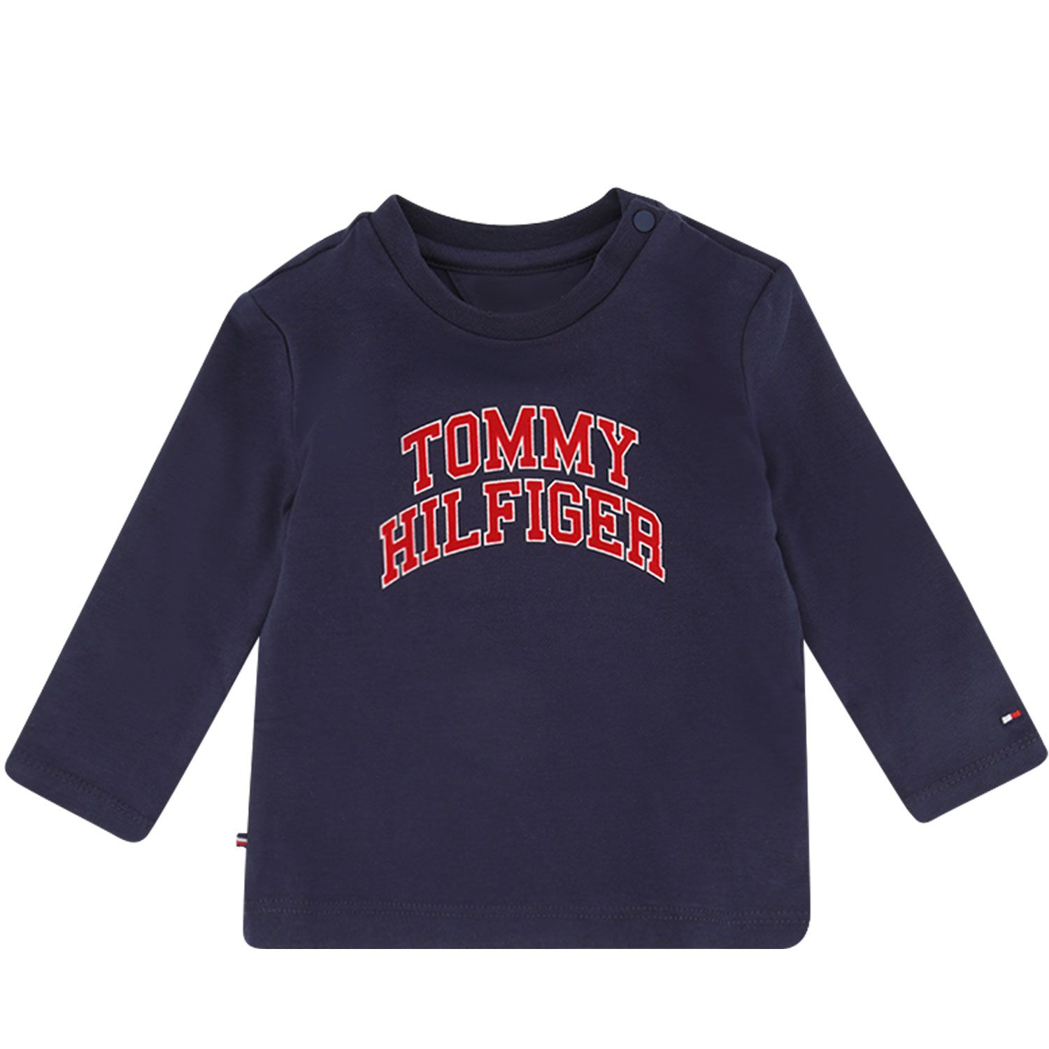Picture of Tommy Hilfiger KN0KN01156 baby shirt navy