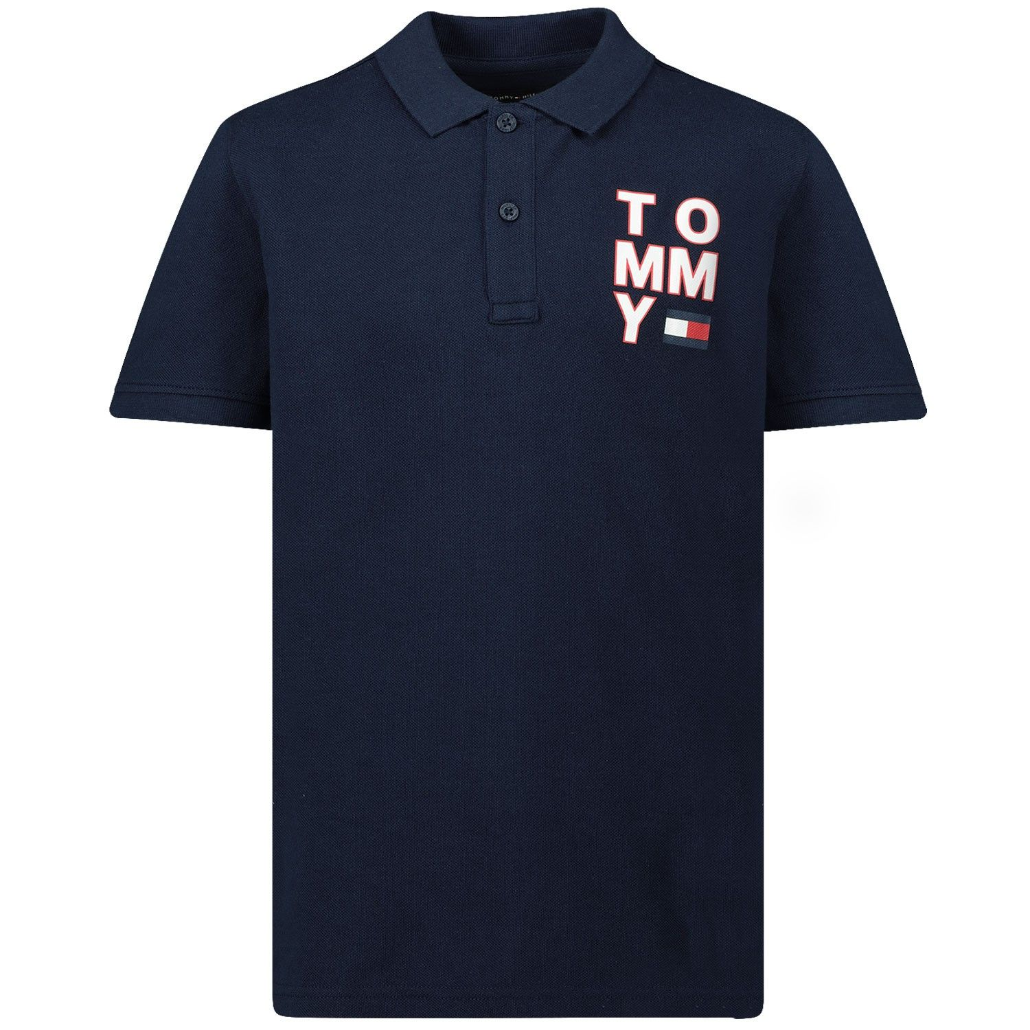 Picture of Tommy Hilfiger KB0KB05430 kids polo shirt navy