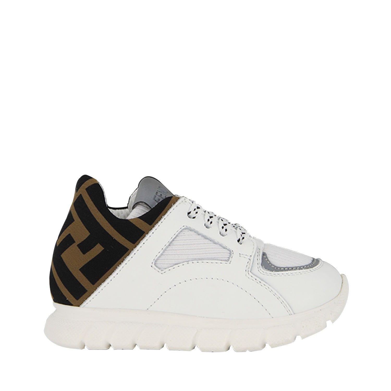 Picture of Fendi JMR334 A8CJ kids sneakers white