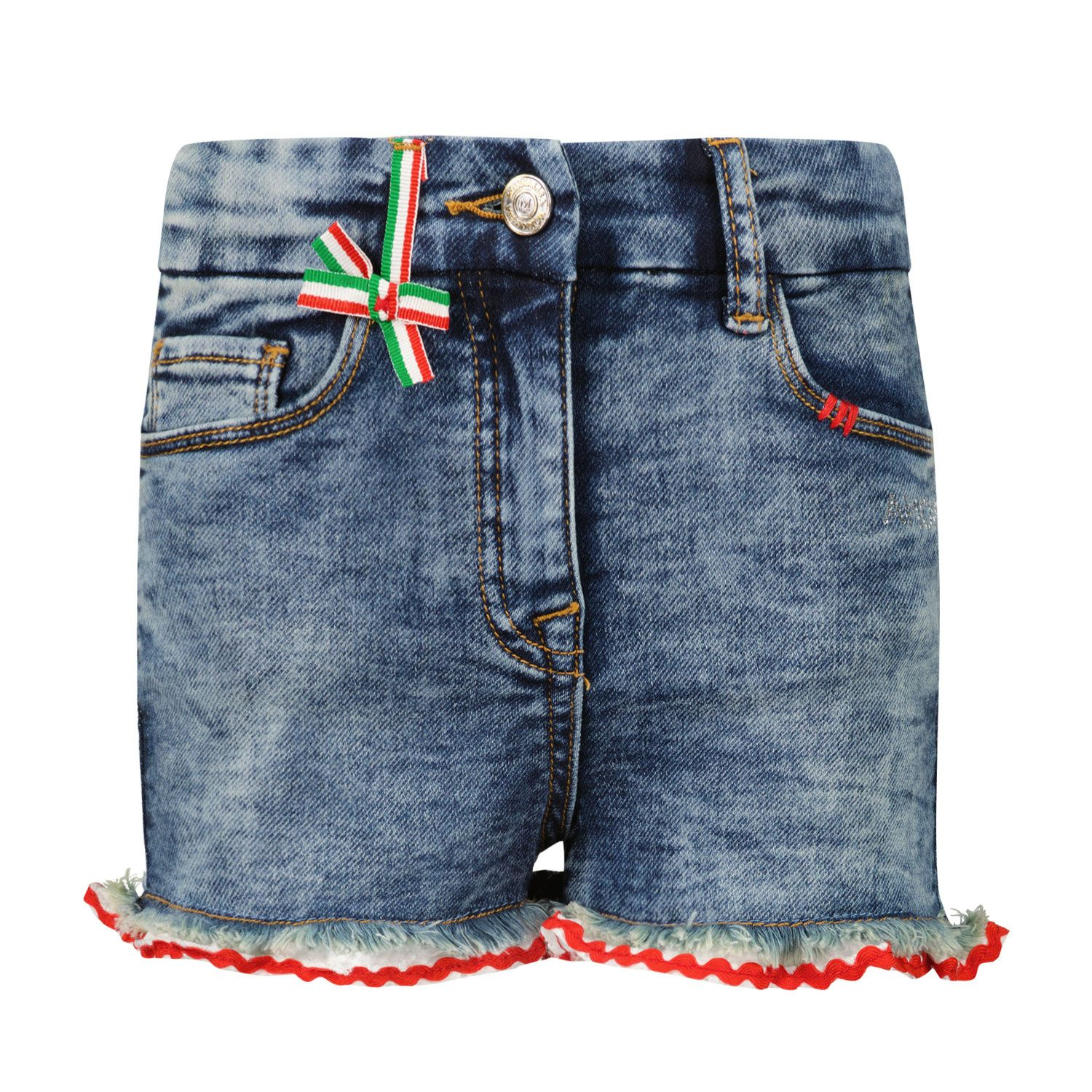 Picture of MonnaLisa 197405R9 kids shorts jeans