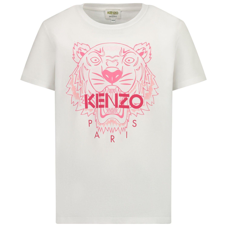 Afbeelding van Kenzo KR10238 kinder t-shirt wit