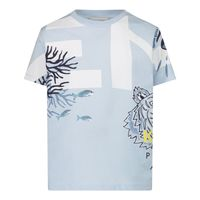 Picture of Kenzo K05046 baby shirt light blue