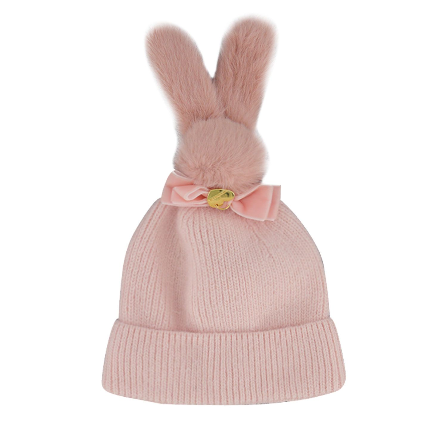 Picture of MonnaLisa 398011 baby hat light pink