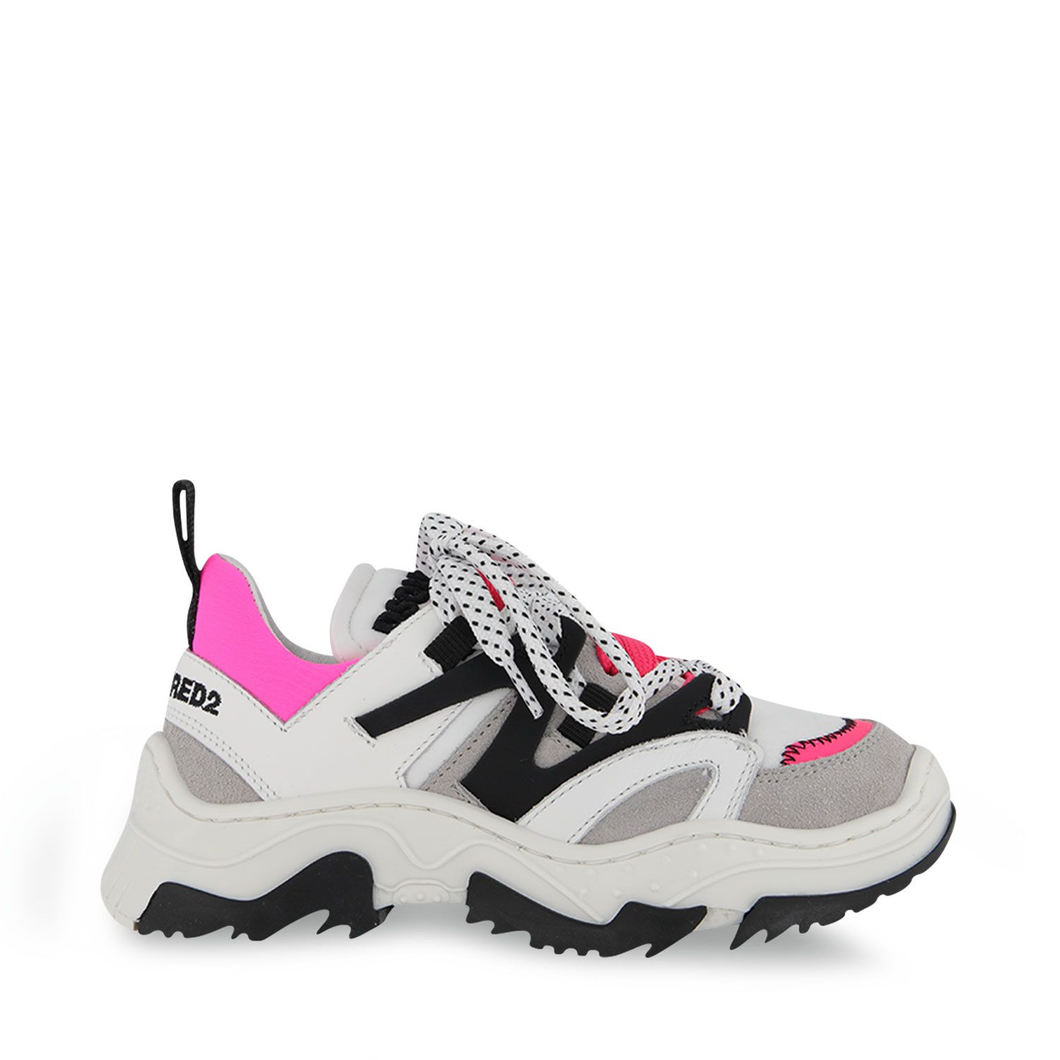 Picture of Dsquared2 67081 kids sneakers fluoro pink
