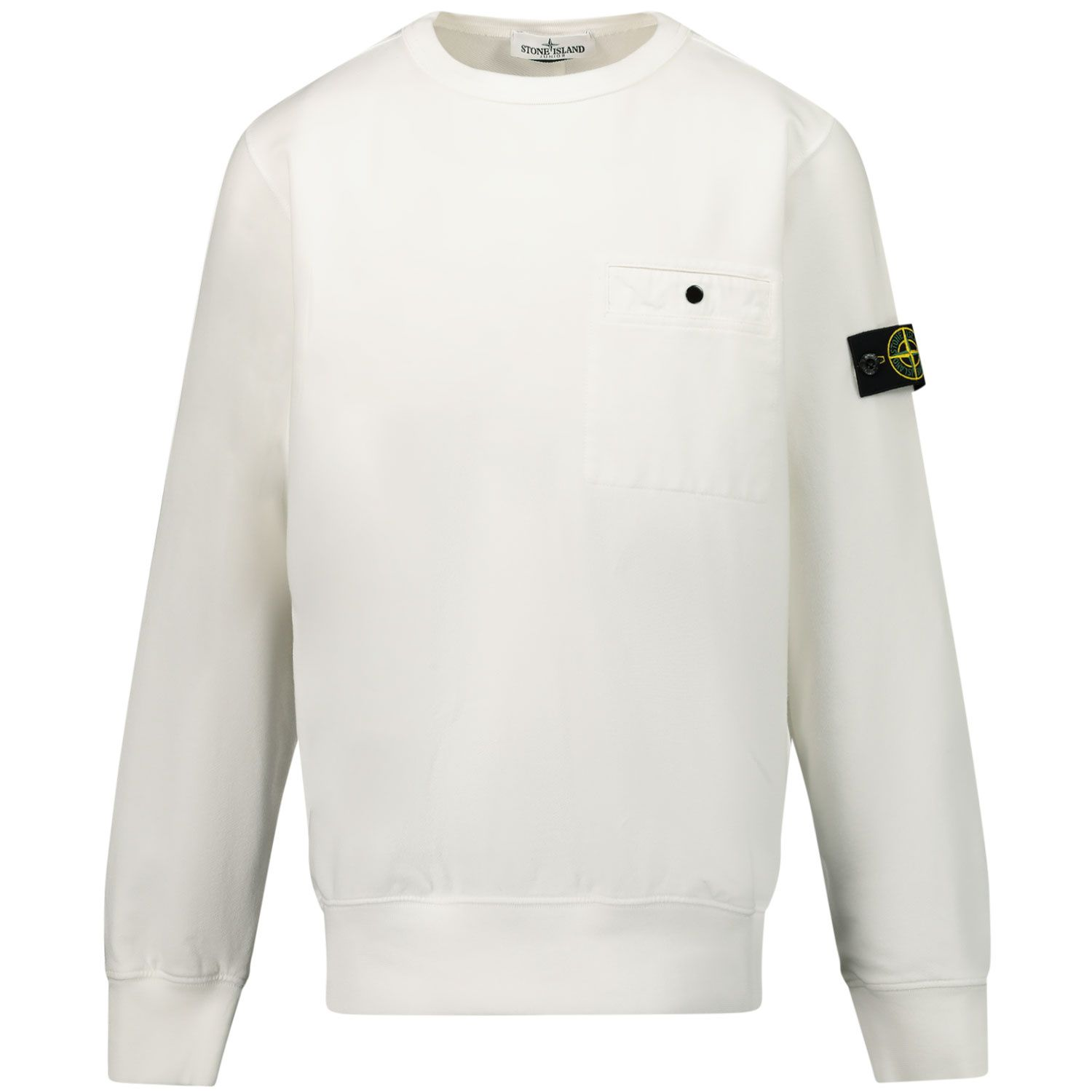 Picture of Stone Island 60142 kids sweater white