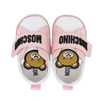 Picture of Moschino 67339 baby sneakers light pink