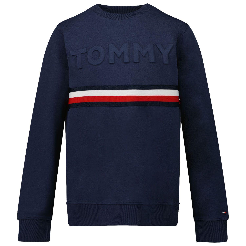 Picture of Tommy Hilfiger KB0KB06345 kids sweater navy