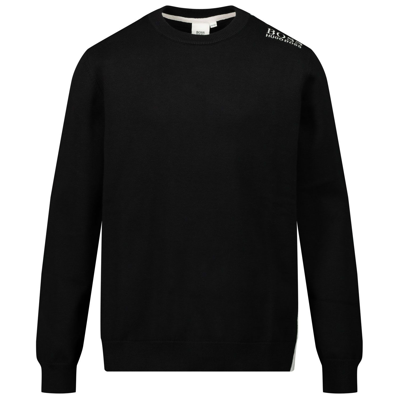 Picture of Boss J25G57 kids sweater black