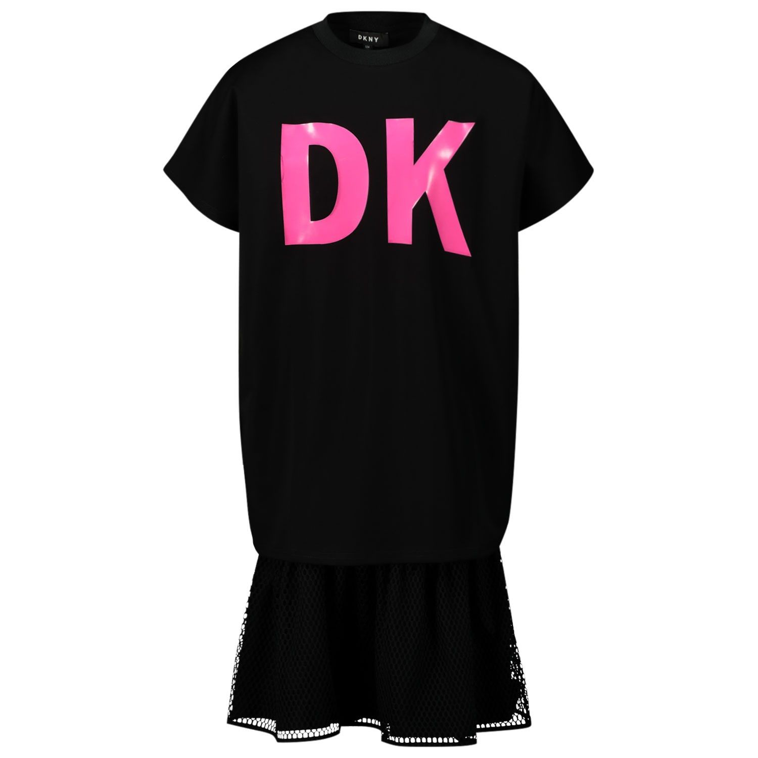 Picture of DKNY D32743 kids dress black