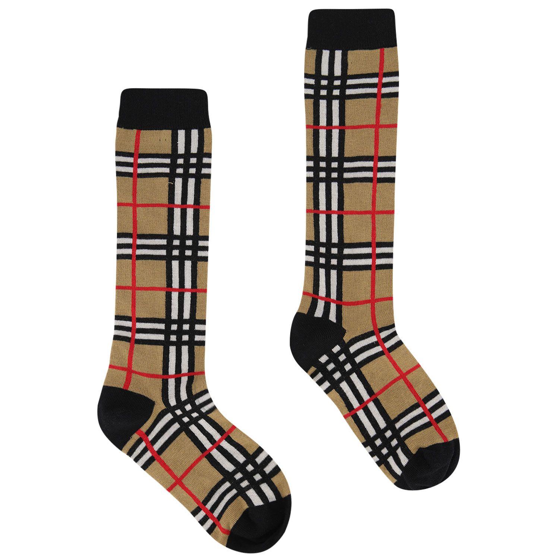 Picture of Burberry 8018178 kids socks beige
