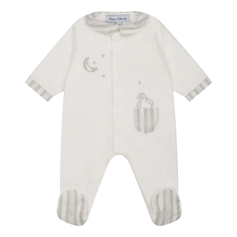 Picture of Tartine et Chocolat TT54091 baby playsuit white