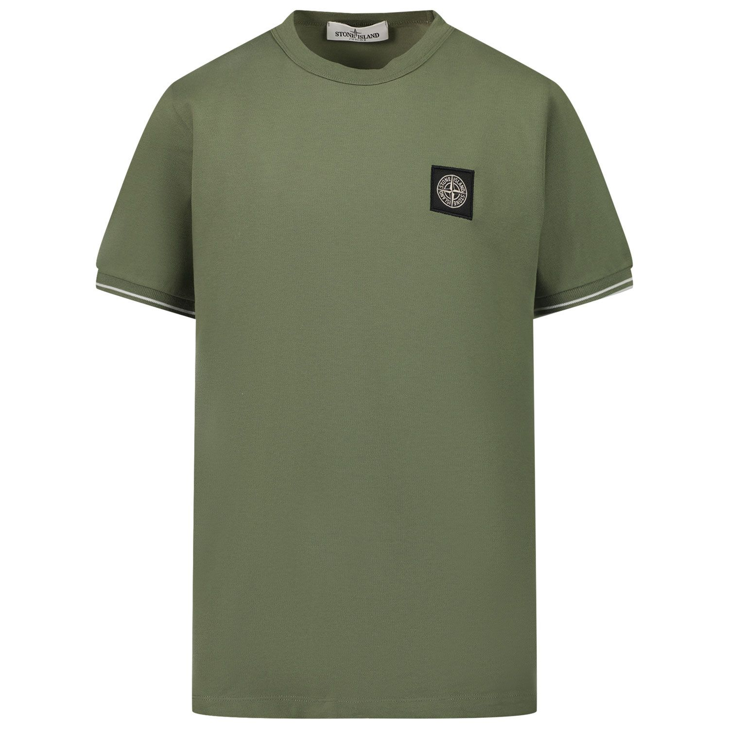 Picture of Stone Island 20748 kids t-shirt dark green