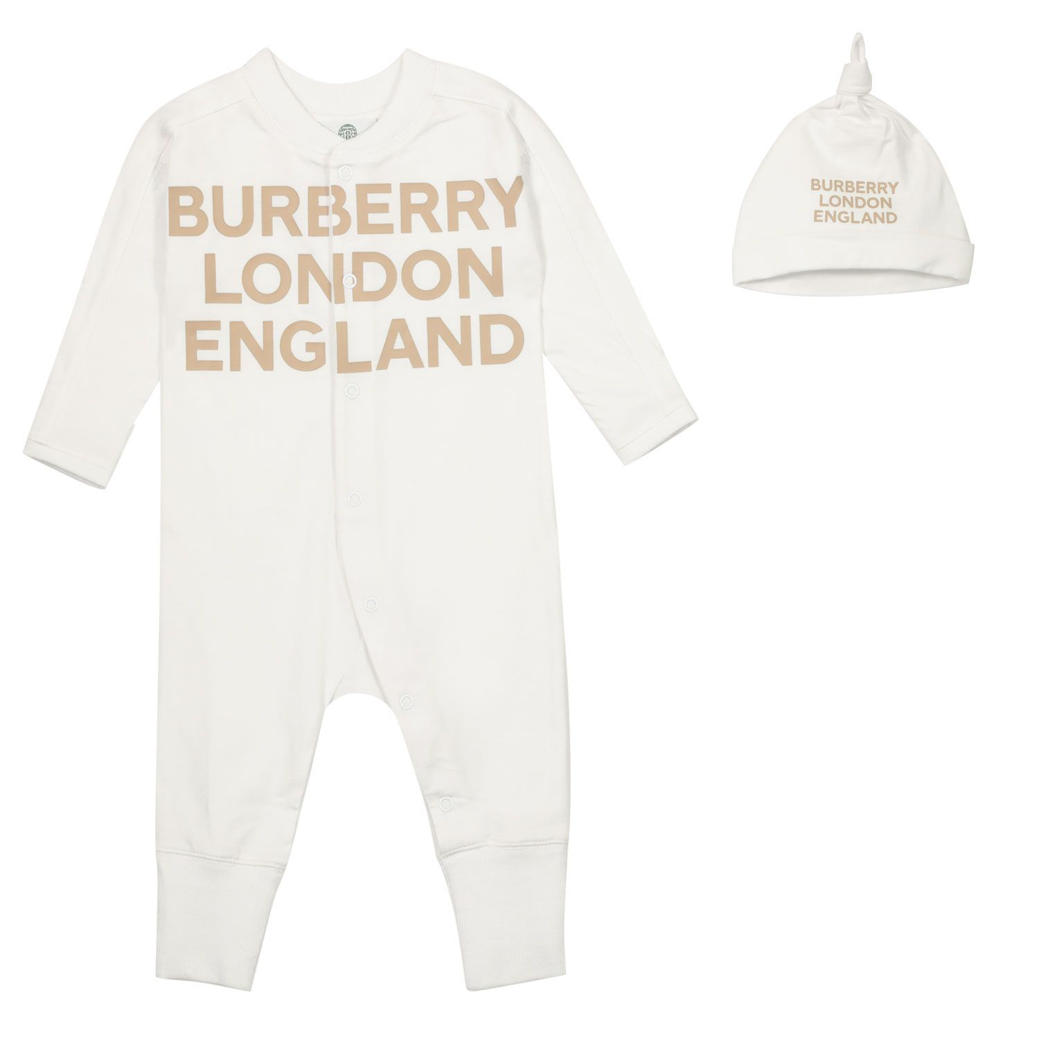 Picture of Burberry 8030586 baby playsuit white