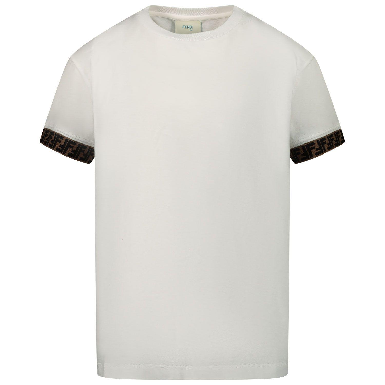 Afbeelding van Fendi JUI018 7AJ kinder t-shirt wit