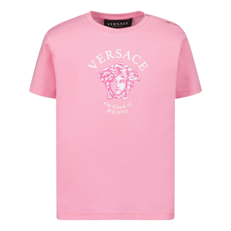 Afbeelding van Versace 1000102 1A00266 baby t-shirt roze