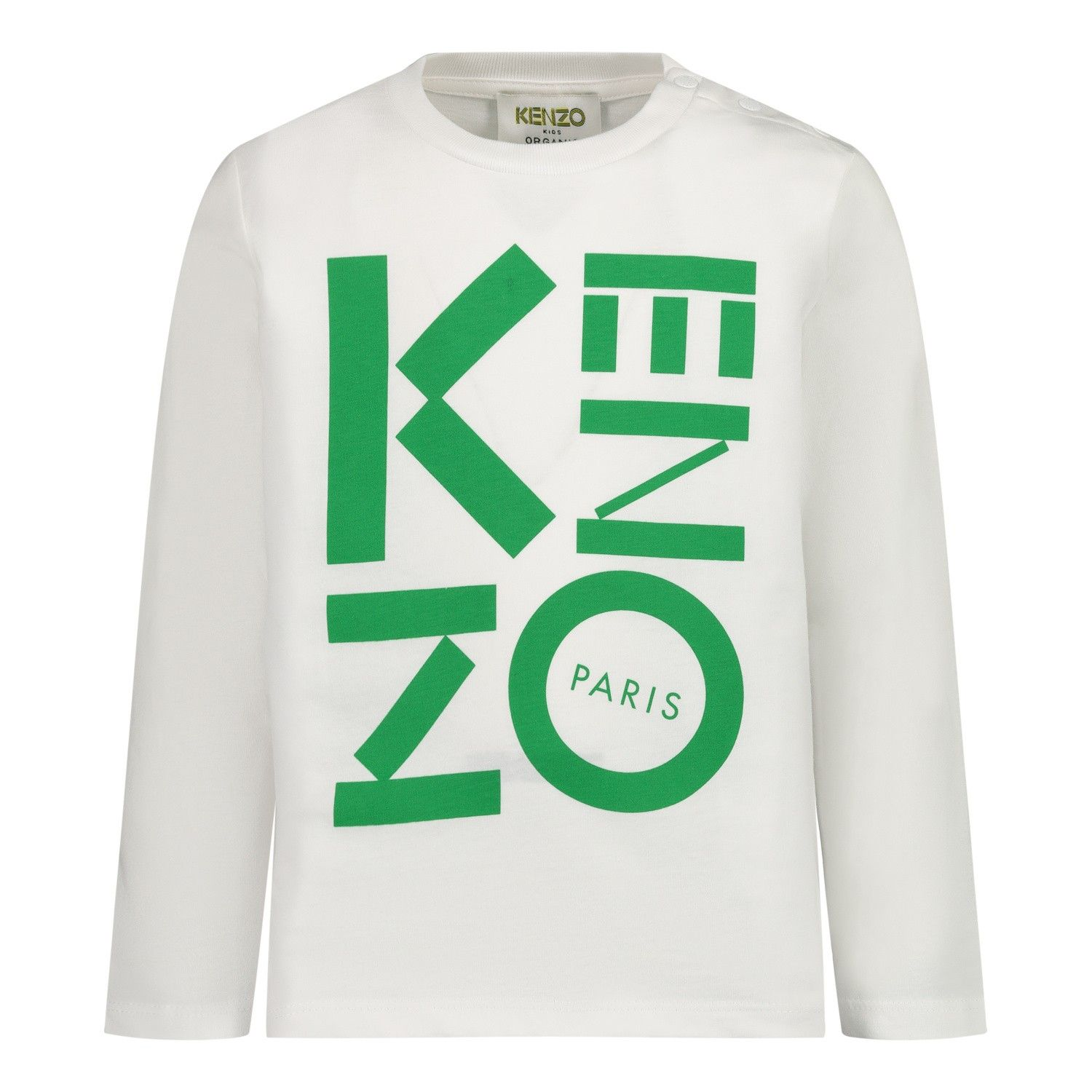 Picture of Kenzo KR10567 baby shirt white