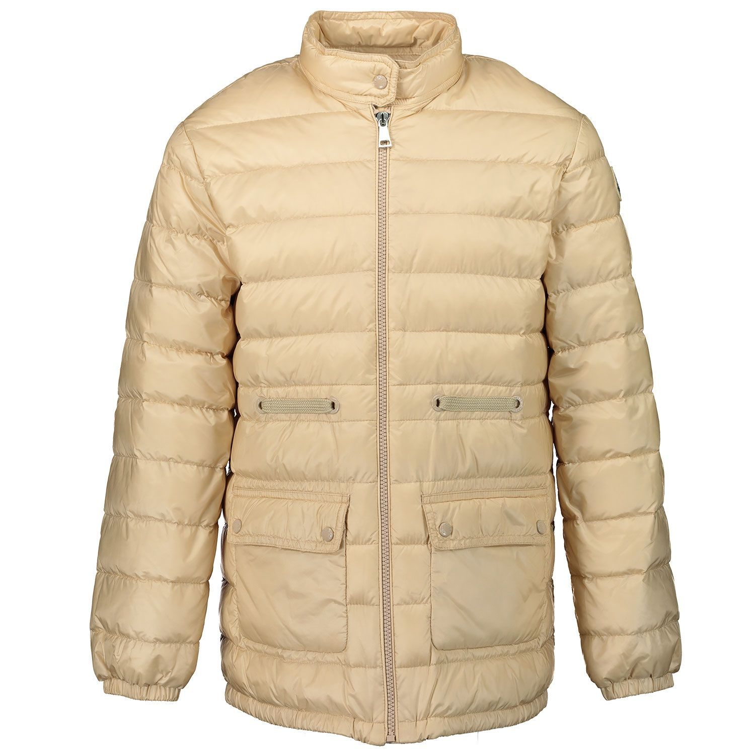 Picture of Moncler 1B51410 kids jacket beige