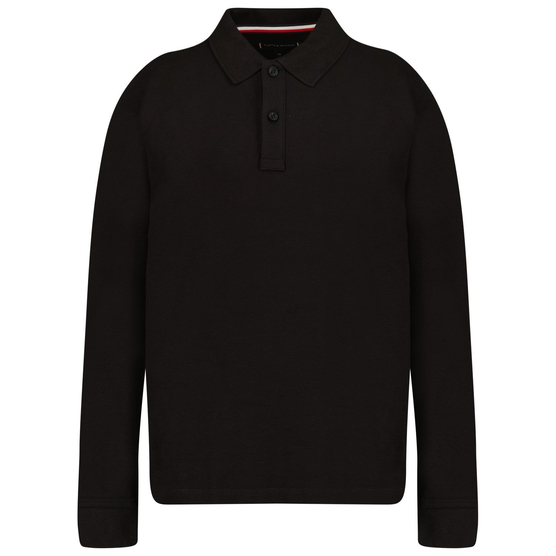 Picture of Tommy Hilfiger KB0KB06874 kids polo shirt black