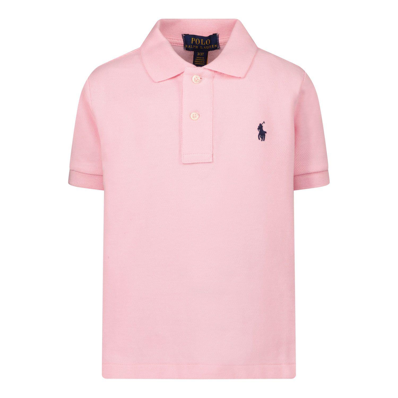 Picture of Ralph Lauren 603252 kids polo shirt light pink