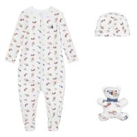 Picture of Ralph Lauren 320799049 baby playsuit white