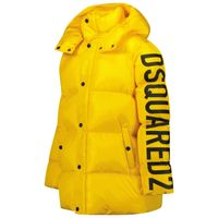 Picture of Dsquared2 DQ0388 kids jacket yellow