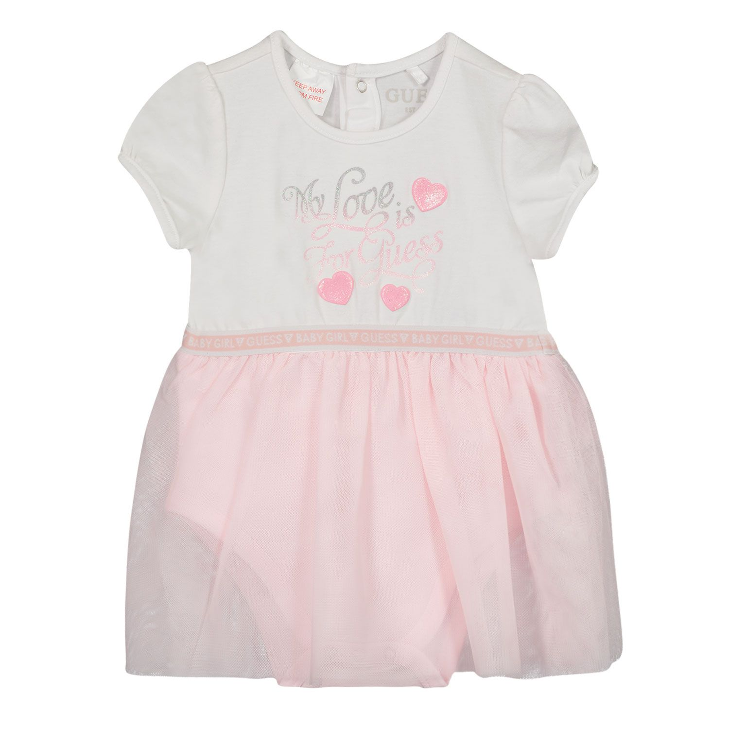 Picture of Guess S1RG08 baby dress light pink