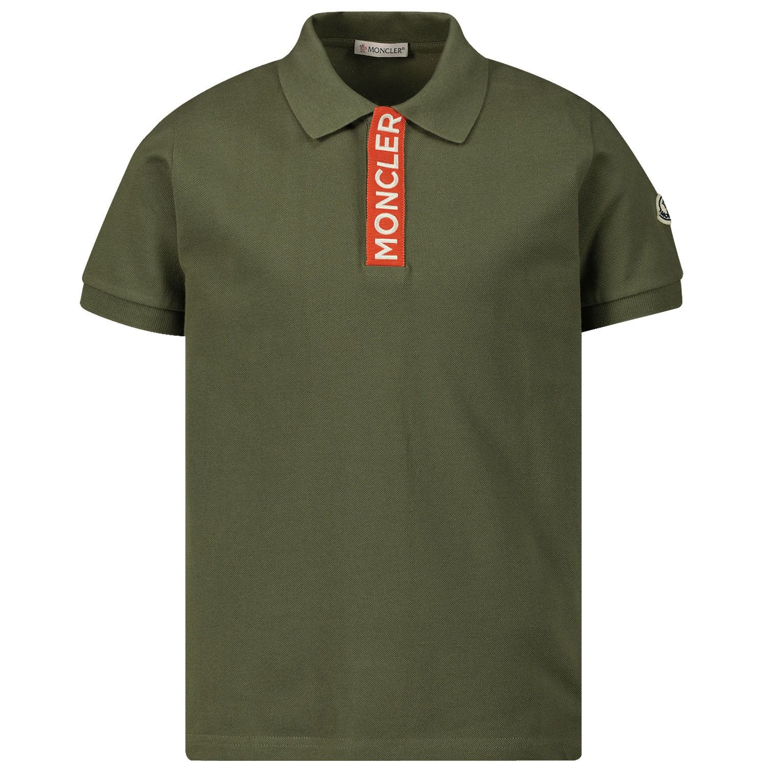 Picture of Moncler 8A70720 kids polo shirt green