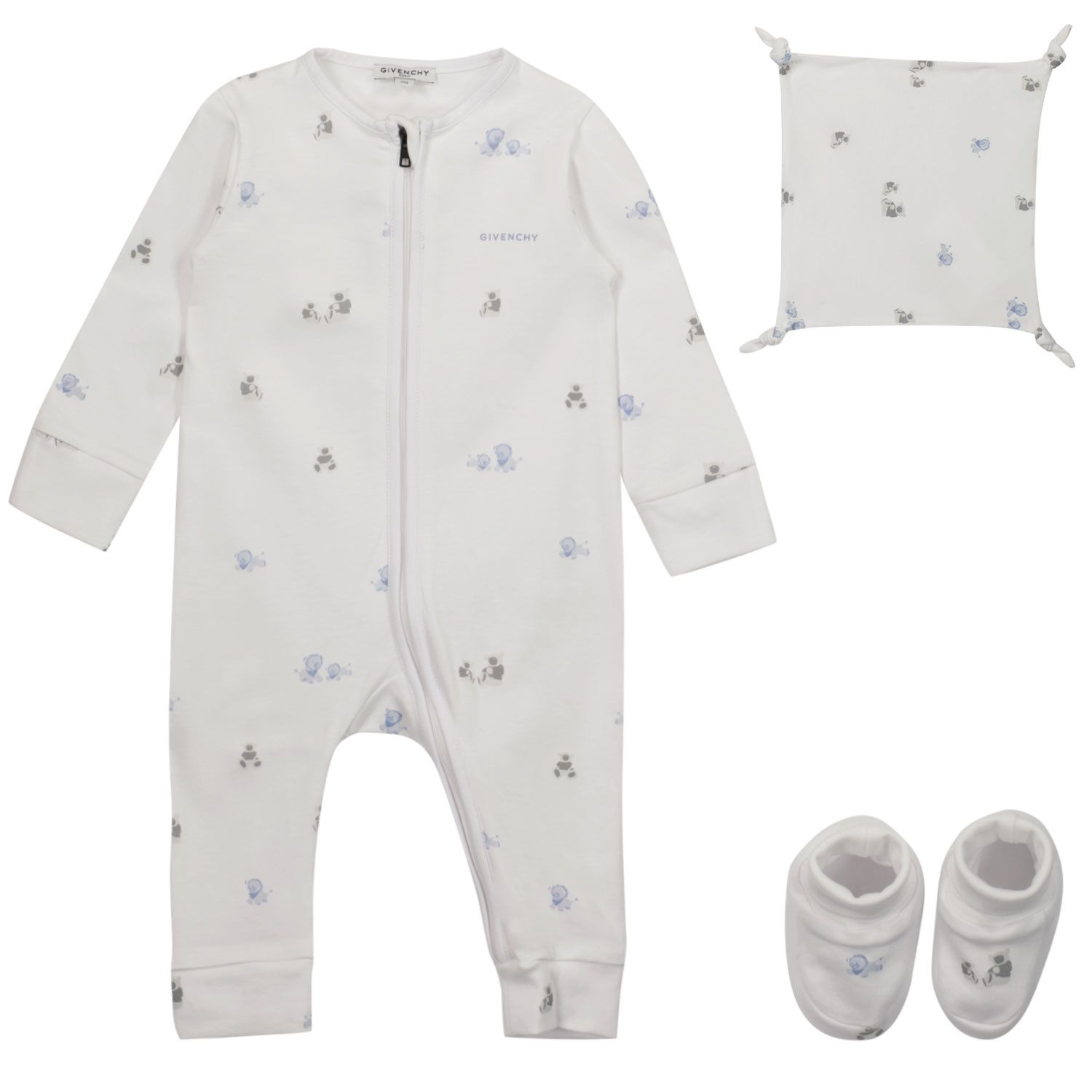 Picture of Givenchy H98107 baby playsuit white