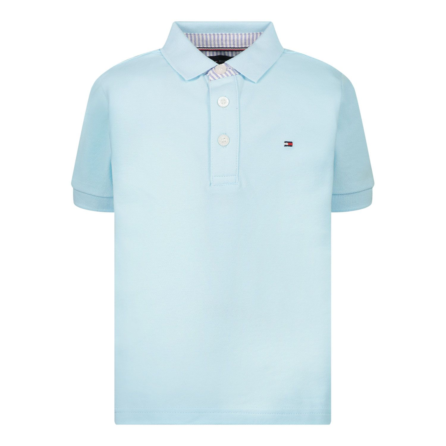 Picture of Tommy Hilfiger KB0KB06547 B baby poloshirt turquoise