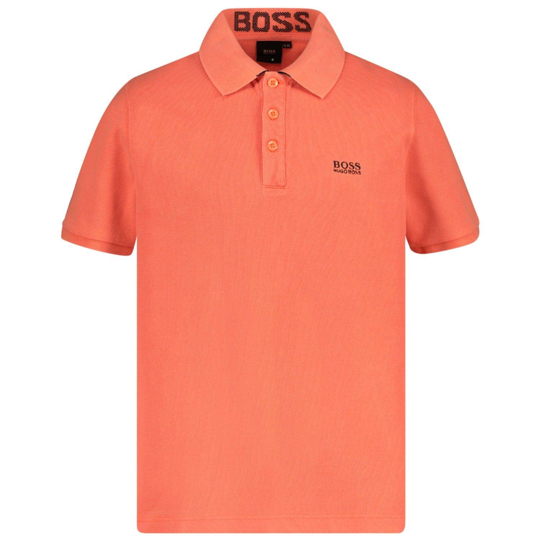 Afbeelding van Boss J25E84 kinder polo fluor oranje