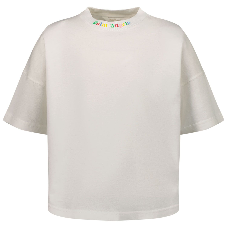 Afbeelding van Palm Angels PBAA002F21JER0010184 kinder t-shirt wit