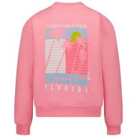 Picture of Tommy Hilfiger KG0KG05893 kids sweater fluoro pink