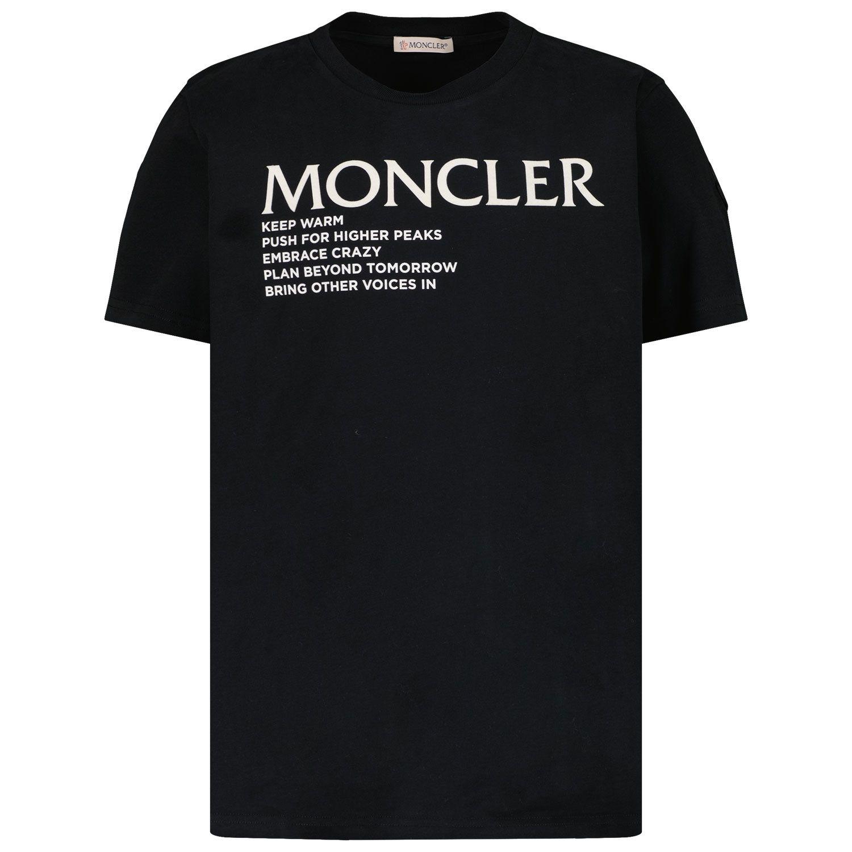 Picture of Moncler 8C77300 kids t-shirt black