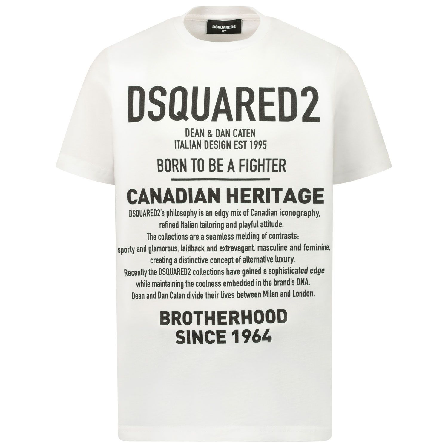 Picture of Dsquared2 DQ046W kids t-shirt white