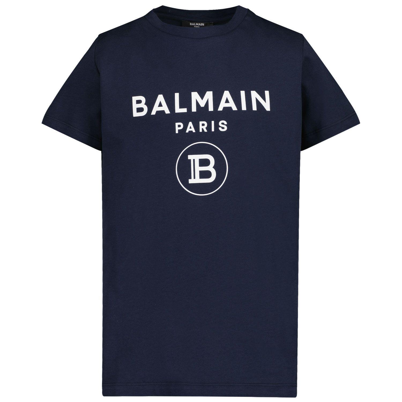 Picture of Balmain 6M8701 kids t-shirt navy