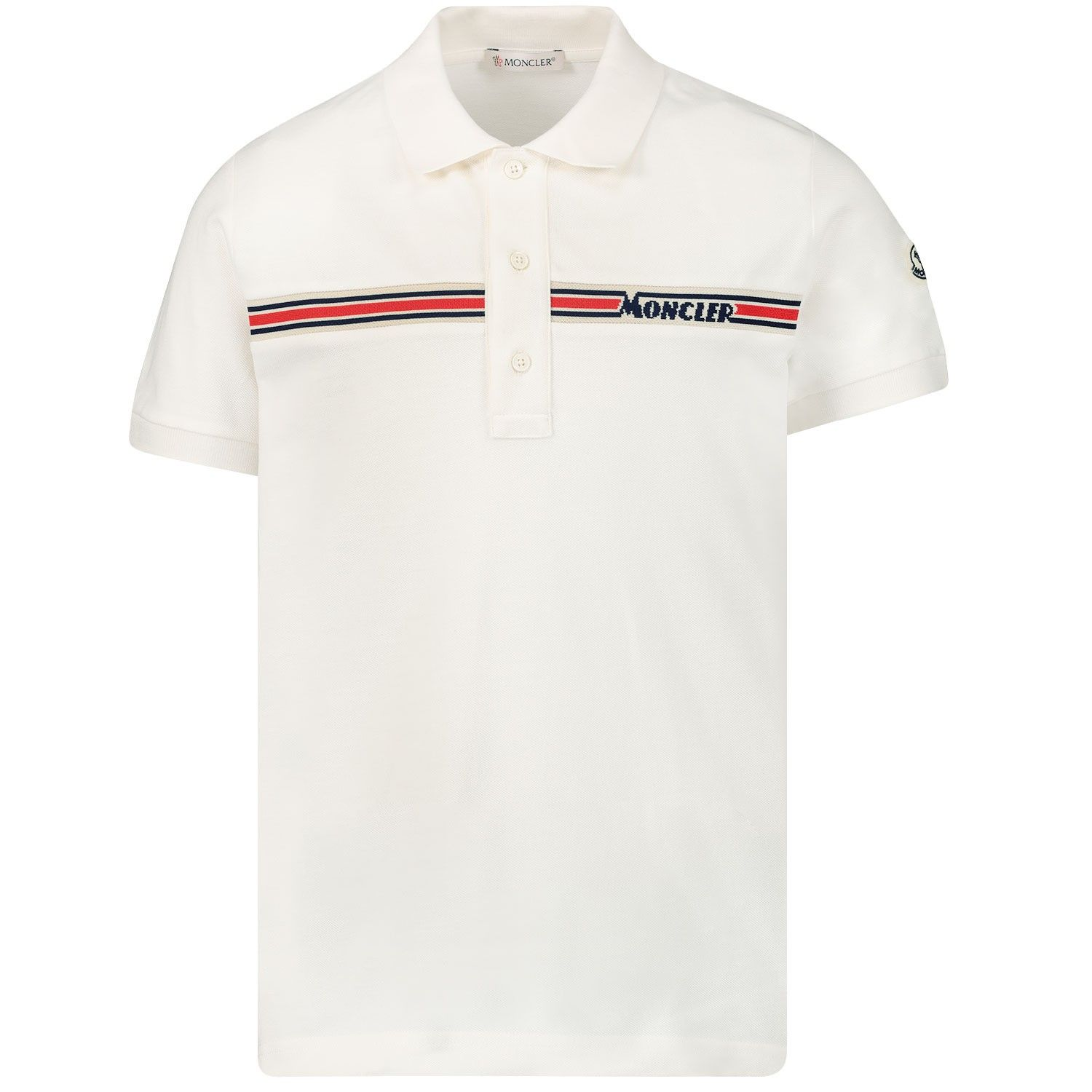 Picture of Moncler 8A70320 kids polo shirt white