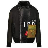 Picture of Dsquared2 DQ0590 kids jacket black