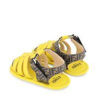 Picture of Fendi BUR084 AEYJ baby shoes yellow
