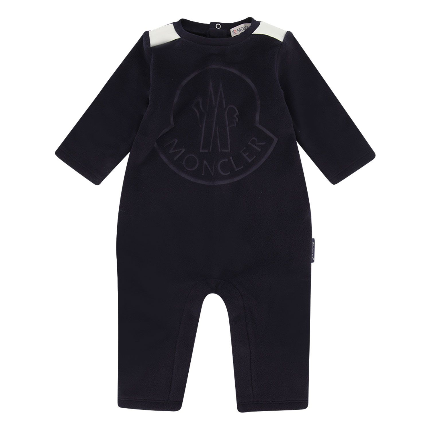 Picture of Moncler 8O60000 baby playsuit navy
