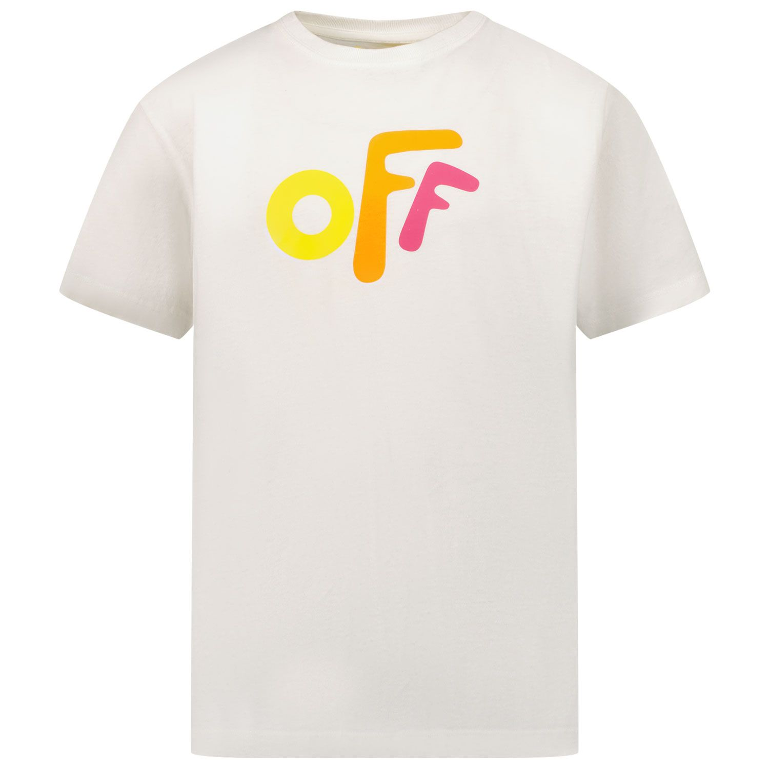 Picture of Off-White OGAA001F21JER0020184 kids t-shirt white