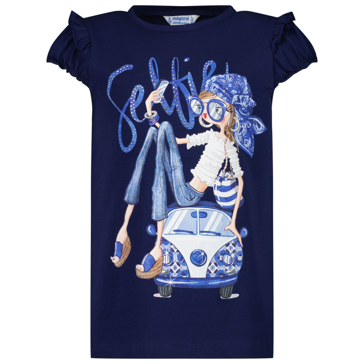 Picture of Mayoral 3013 kids t-shirt navy
